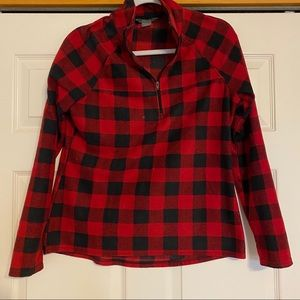 """""""Natural Reflections"""" Red Plaid Sweater • Size M"""